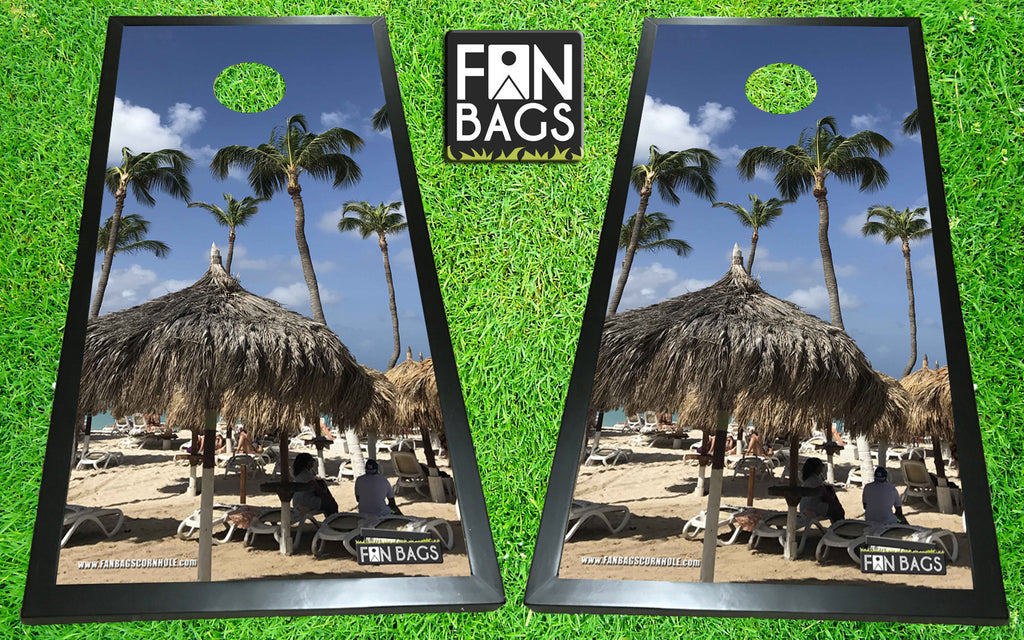 Aruban Beach Cornhole Set - FanBags Cornhole