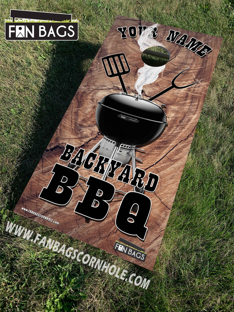 CUSTOM BBQ THEMED CORNHOLE SETS