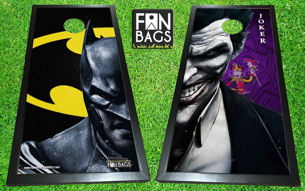 Batman vs Joker Cornhole Set - FanBags Cornhole