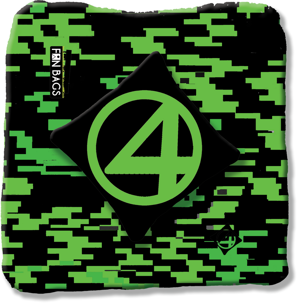 BLACK AND GREEN BRICK CAMO PRO BAGS