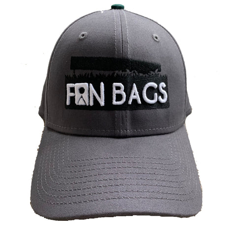 FanBags Charcoal Cotton Fitted Hat - FanBags Cornhole