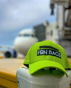 FanBags Cyber Green Mesh Fitted Hat - FanBags Cornhole