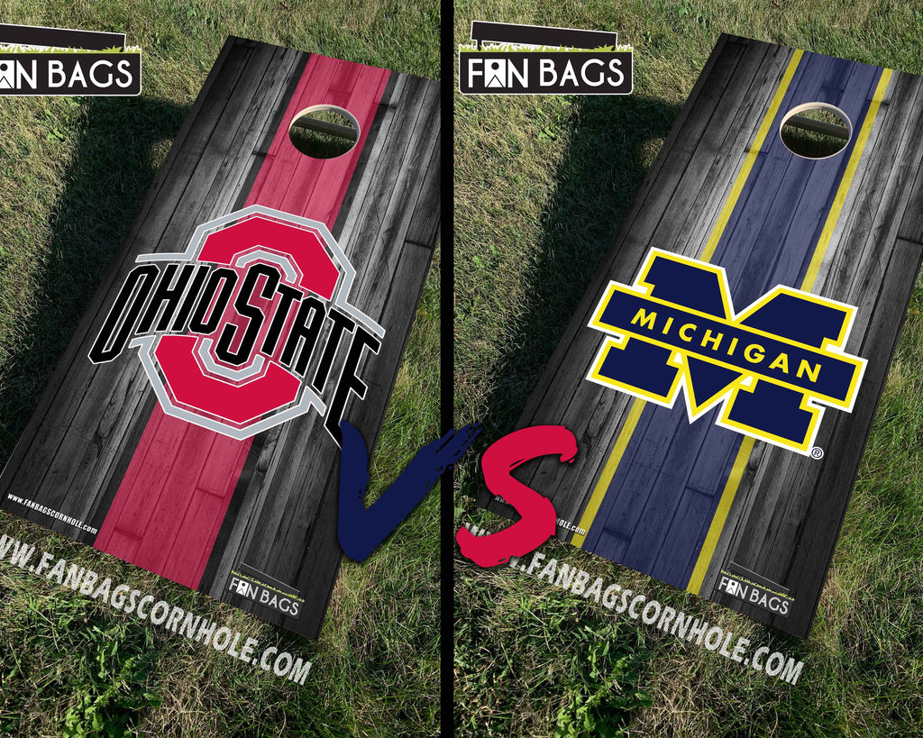 OHIO STATE vs MICHIGAN CORNHOLE SETS