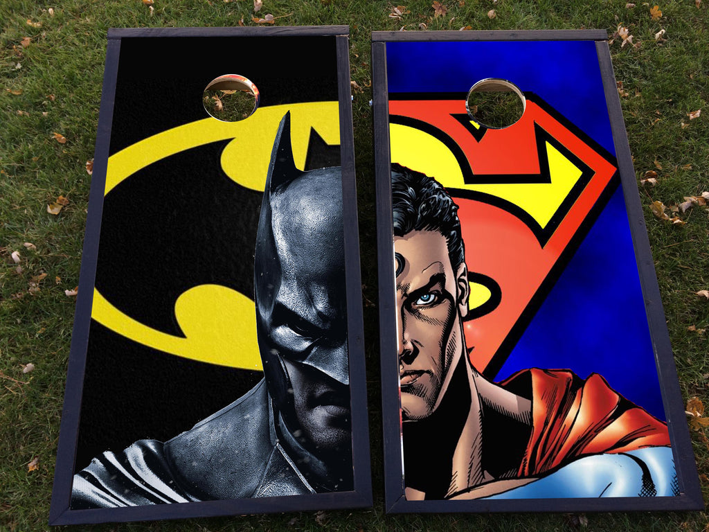 Superman vs. Batman Cornhole Set - FanBags Cornhole