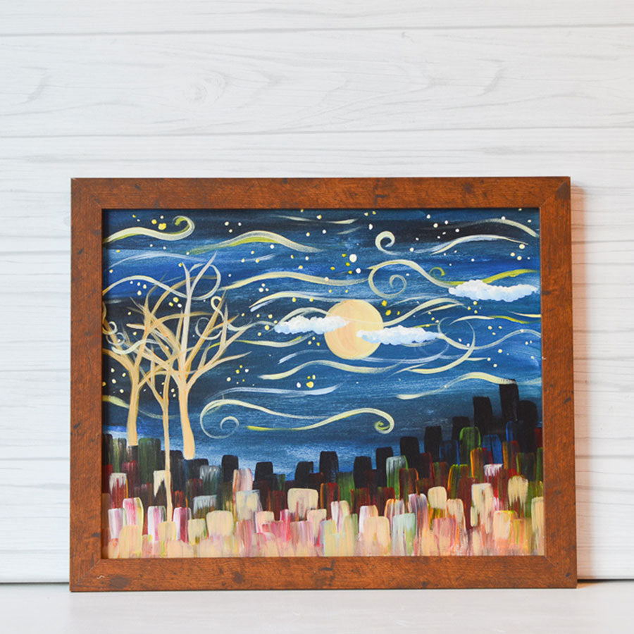 "Saturday, November 14, 2020: ""Starry Night"" Canvas Painting @ Studio 614"