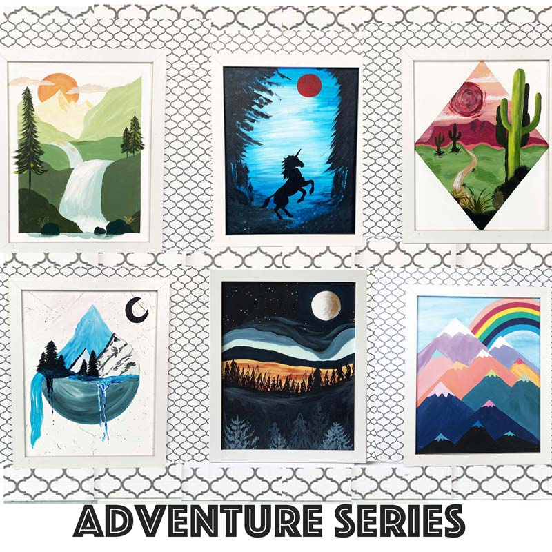 "Sunday, May 9, 2021: ""Adventure Series"" Open Studio Painting @ Studio 614"