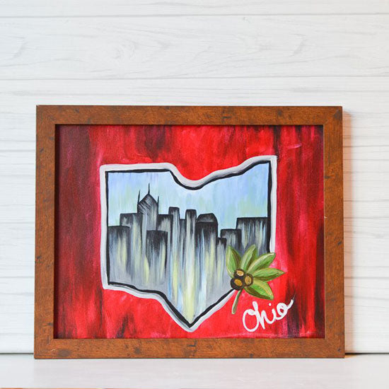 "Sunday, August 23, 2020: ""Capital City"" Canvas Painting @ Studio 614"