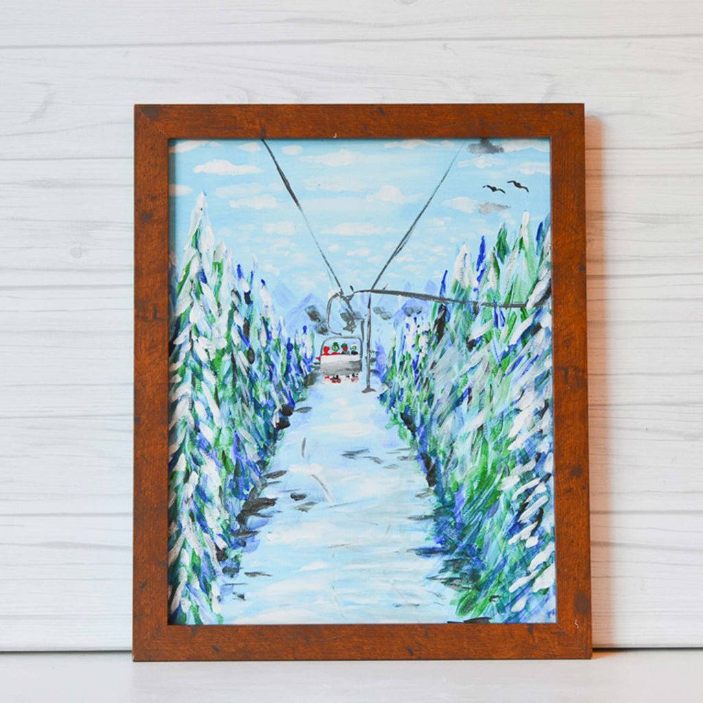 "Saturday, February 22, 2020: ""Winter Wonderland"" or ""Chairlift"" Canvas Painting Class @ Studio 614"