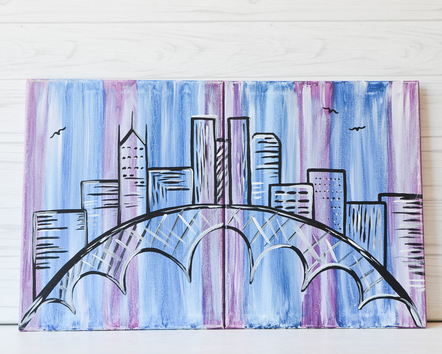 "Sunday, February 14, 2021: ""Colorful Columbus"" Canvas Painting @ Studio 614"