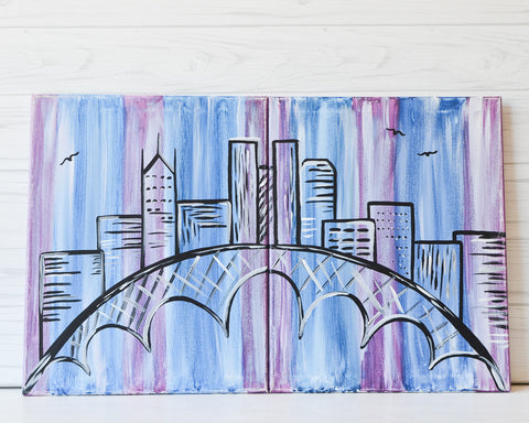 "Thursday February 14th, 2019: ""Colorful Columbus"" Canvas Painting @ Studio 614"