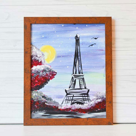 "Friday, May 28, 2021: ""Eiffel Tower"" Canvas Painting @ Studio 614"