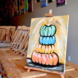 "Saturday, September 21, 2019: ""Fall Pumpkins"" Canvas Painting Class @ Studio 614"