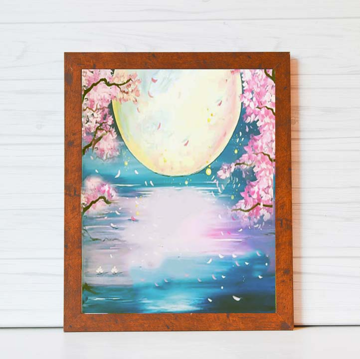 "Friday, April 3, 2020: VIRTUAL ""Full Moon"" Canvas Painting Class"