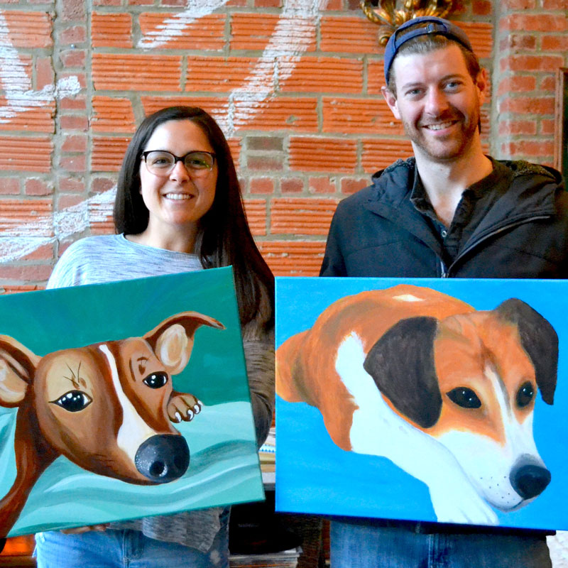 "Wednesday, January 8, 2020: ""Paint Your Pet"" Canvas Painting @ Studio 614"