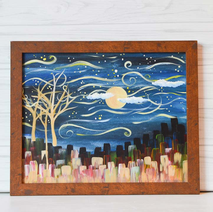 "Saturday, October 17, 2020: ""Fall Pumpkins"" Canvas Painting Class @ Studio 614"