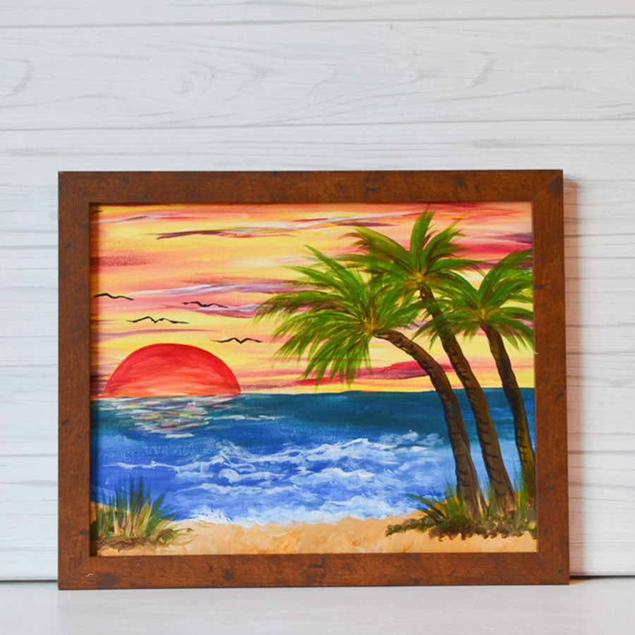 "Saturday, March 28, 2020: ""Sunset on the Beach"" Canvas Painting @ Studio 614"