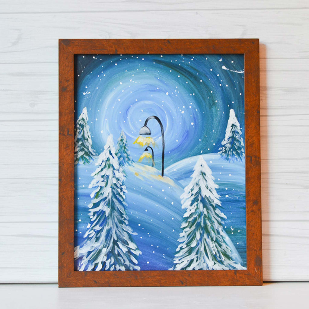 "Saturday, January 18, 2020: ""Winter Wonderland"" or ""Chairlift"" Canvas Painting Class @ Studio 614"