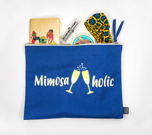 blue-mimosaholic-canvas-clutch-purse-for-brunch