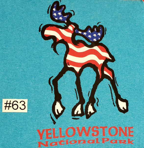 #63 Yellowstone Moose Flag