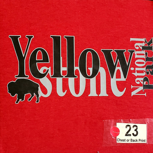 #23 Bison Two Toned Yellowstone Chest and Sleeve Design