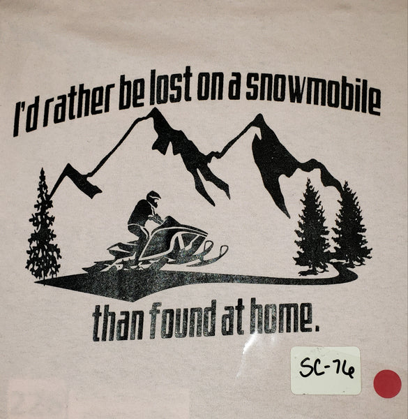 #SC-76 Lost on a Snowmobile