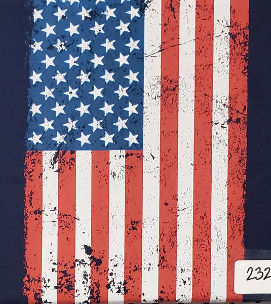 #232 Grunge Flag Vertical
