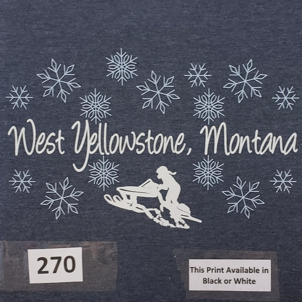 #270 Ponytail West Yellowstone Snowflakes