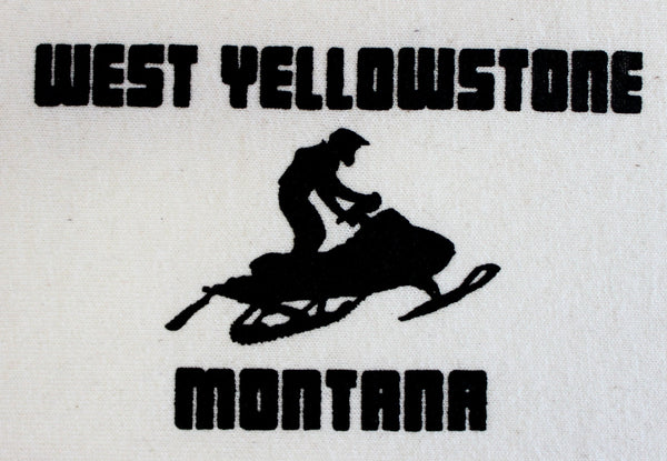 Montana Snowmobile Pocket-Sized Print