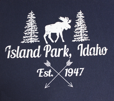 Island Park Moose with Arrows Print