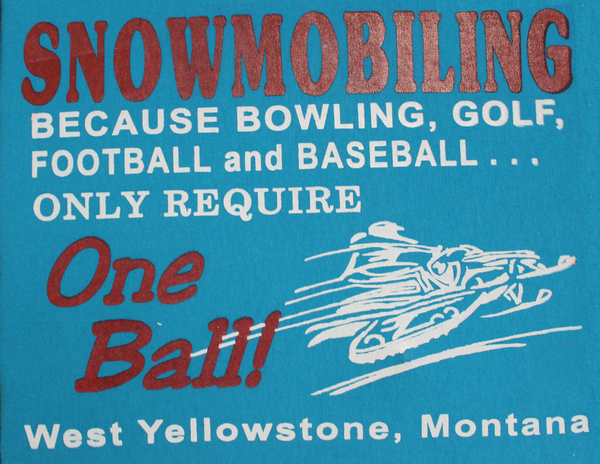 Snowmobiling Over any Sport Print