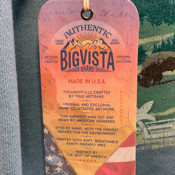 Big Vista Hoodie Yellowstone Old Faithful
