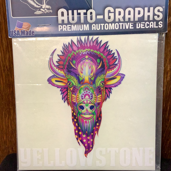 FS Bison head-Yellowstone decal