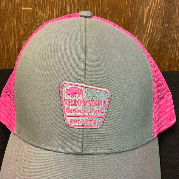 Pink Buffalo Yellowstone trucker hat
