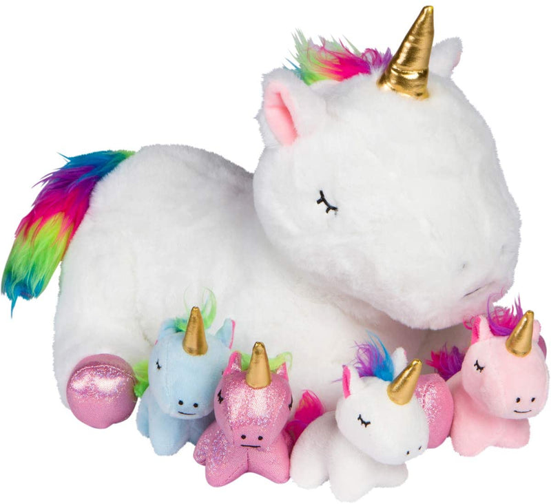 Mommy Unicorn Stuffie With 4 Baby Unicorns In Her Tummy