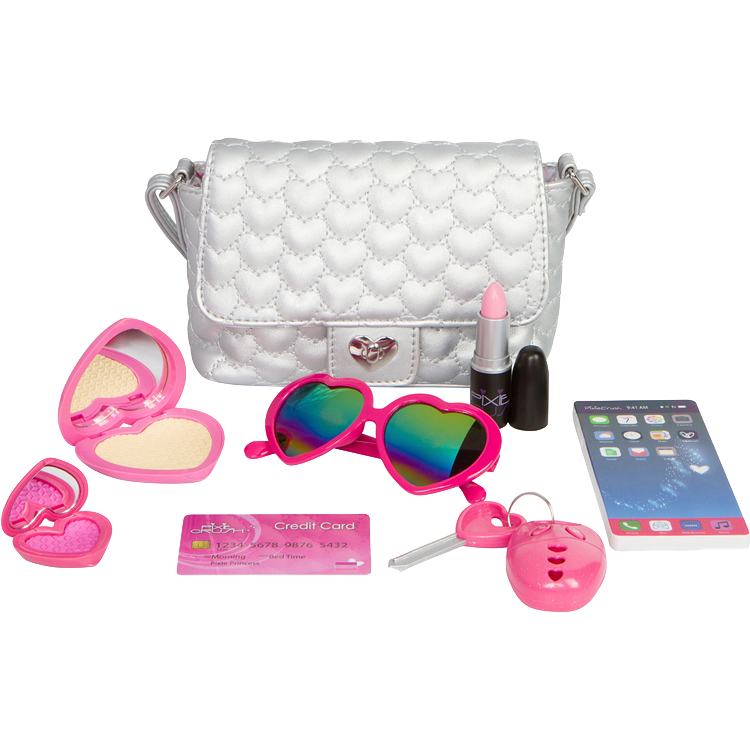 Love Series Pretend Play Purse Set in Silver