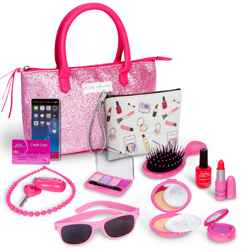 Deluxe Pink Sparkle Purse Pretend Play Set