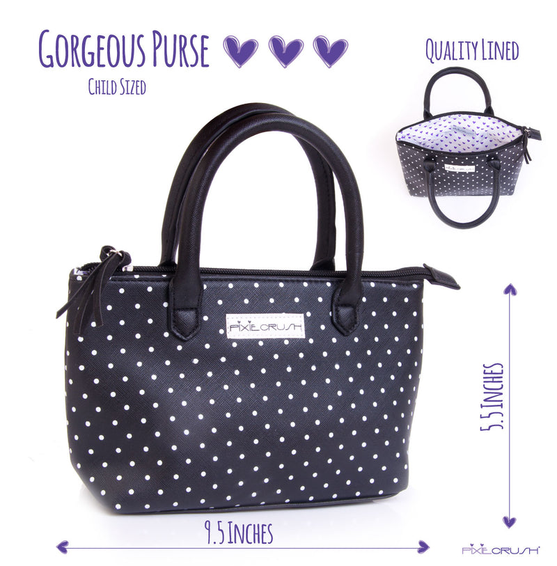 Children Size Black Polka Dot Purse