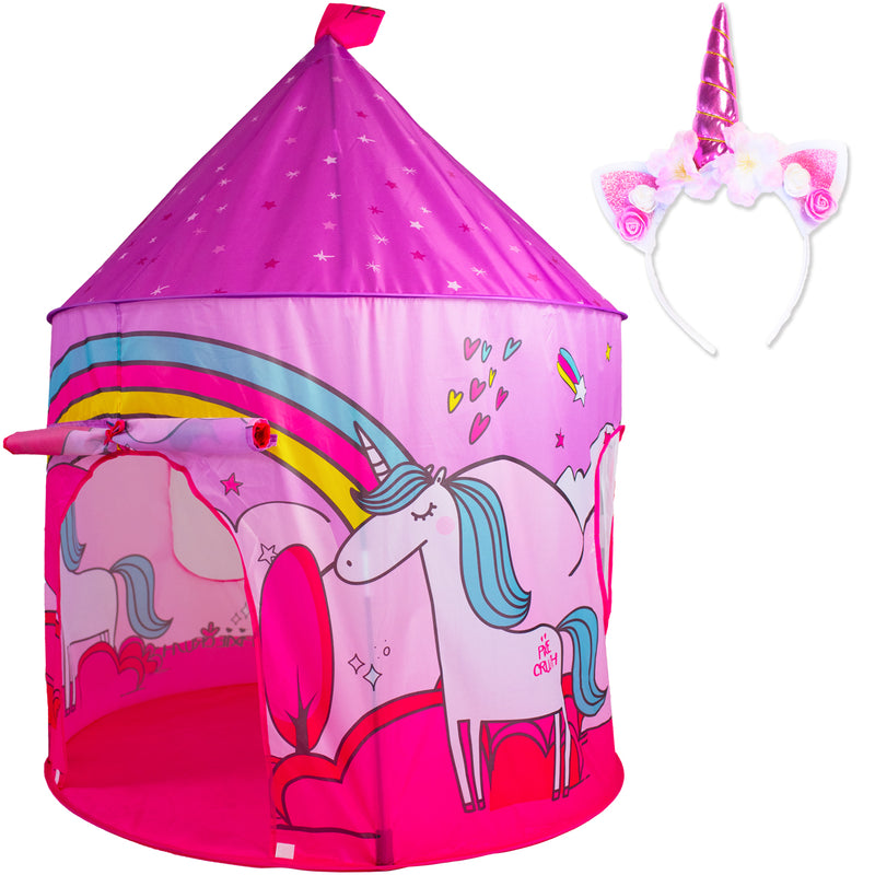Princess Castle Unicorn Play Tent with Unicorn Headband