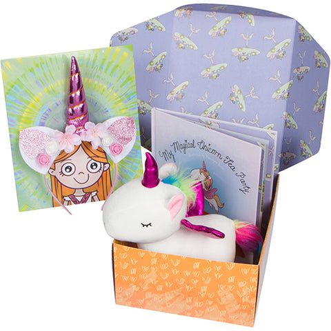 My Magical Unicorn Tea Party Children's Book Gift Set
