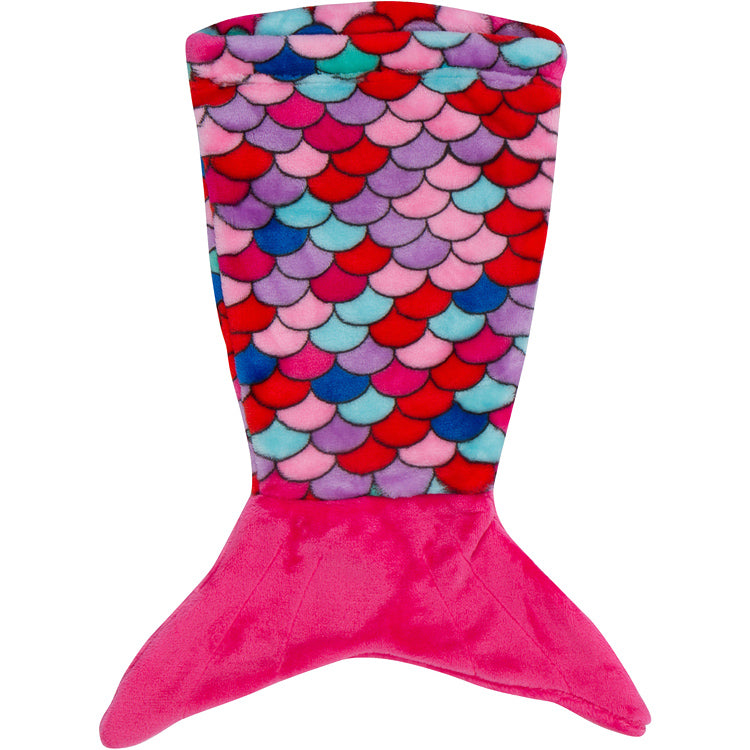 Mermaid Tail Blanket Pink Coral for 18 Inch Dolls