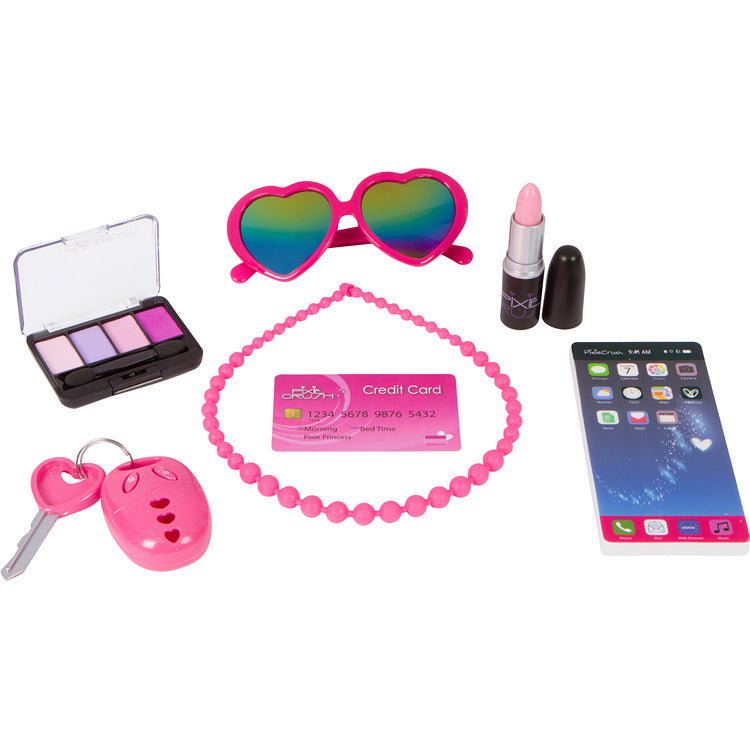 "PixieCrush Pretend Play Kid Pink Purse Set ""Love Series"""