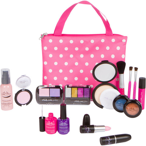 Deluxe 16-Piece Pretend Play Kids Makeup Kit