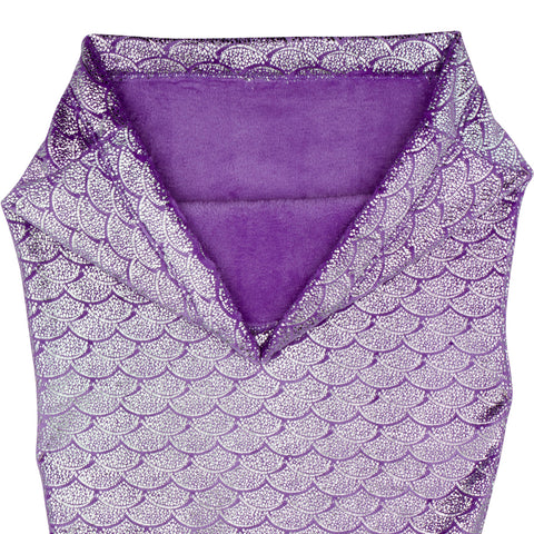 Shimmery Purple Mermaid Tail Blankets for Teens and Adults