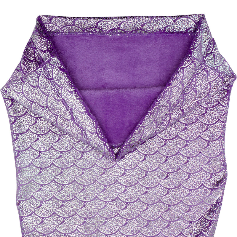 Mermaid Tail Blanket Shiny Purple (Small Ages 3-6)