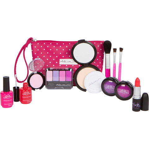 13-piece Beauty Basics Pretend Makeup with Pink Polka Dot Pouch