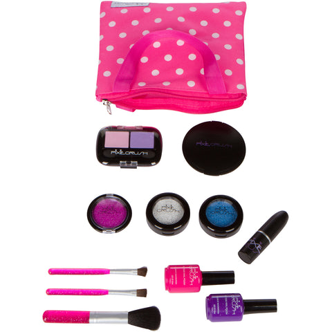 12-piece Essentials Pretend Play Makeup Set with Polka Dot Handbag