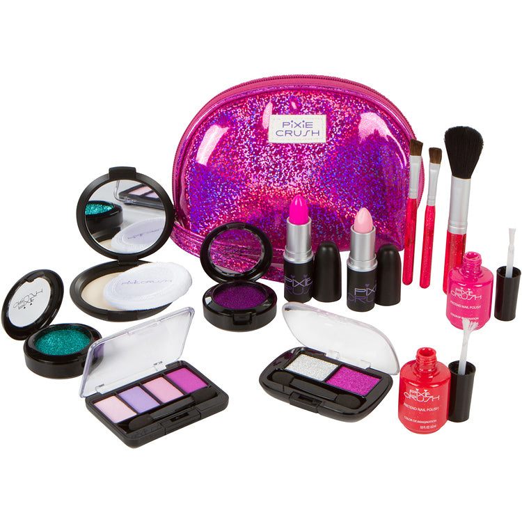 "Pixie Crush Pretend Play Makeup Kit.  Designer Purple ""Sparkle"" Set."