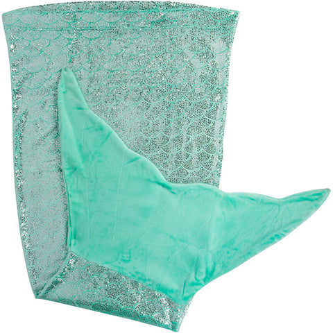Shimmery Teal Mermaid Tail Blankets for Teens and Adults