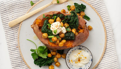 Curry Spiced Stuffed Sweet Potatoes