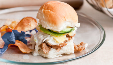 Slow Cooked Chicken Teriyaki Sandwich